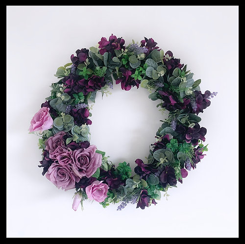 Spring Wreath - Dark Purple & Lilac