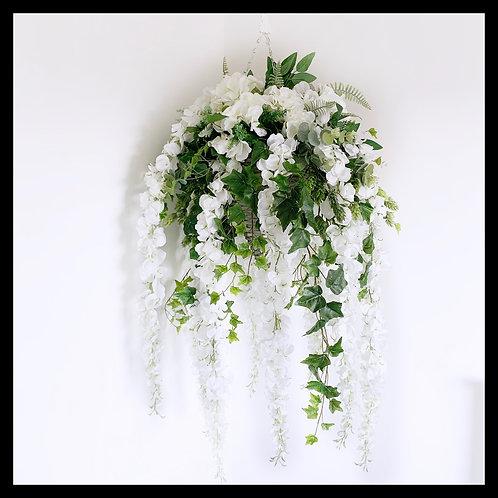 Hanging Basket - White & Cream