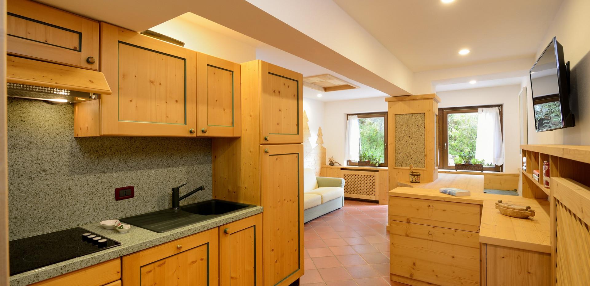 Hera - cucina e soggiorno