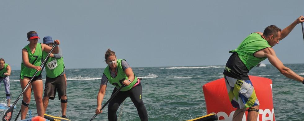 Sarah Perkins showing skills!