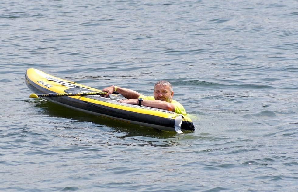 Neil Cutts taking a dip!