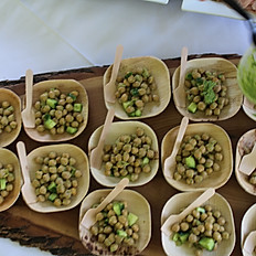 Marinated Chickpea with parsley pesto