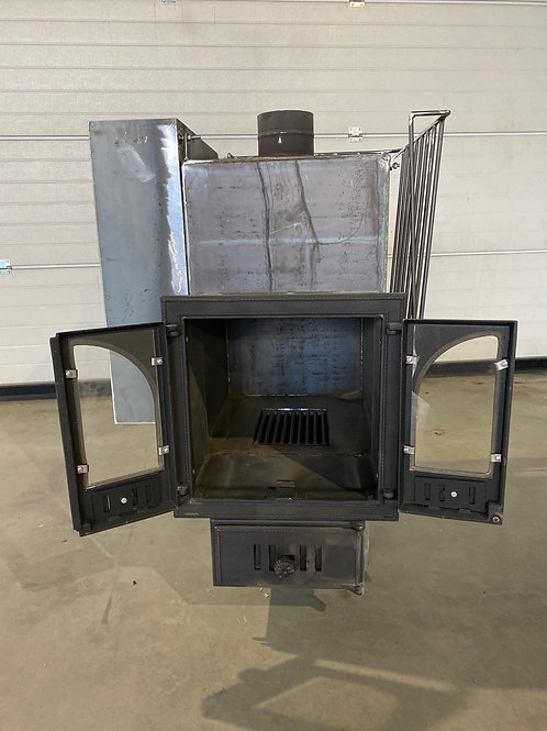 sauna stove with double glass door for 12 sq m