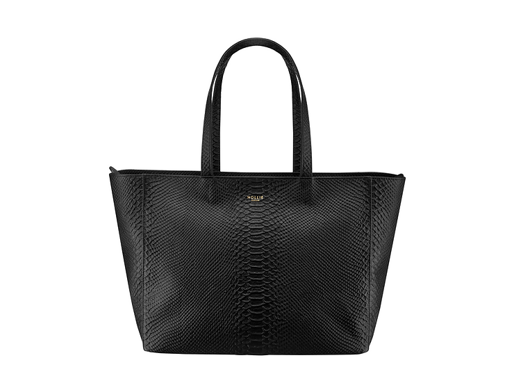 MILA embossed leather