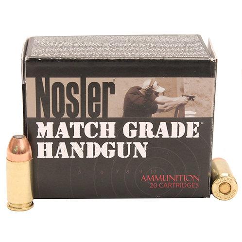 Nosler 51286 Match Grade 9mm Luger 124 gr Jacketed Hollow Point (JHP) 20/Box