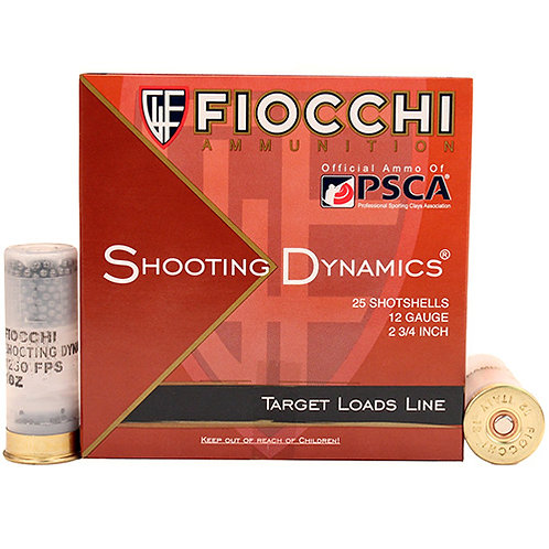 "Fiocchi 12SD1L75 Shooting Dynamics Target 12 Gauge 2.75"" 1 oz 7.5 Shot 25/Box"