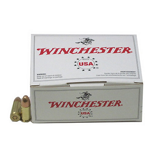 Winchester Ammo USA9MMVP White Box 9mm Luger 115 gr Full Metal Jacket 100/Box