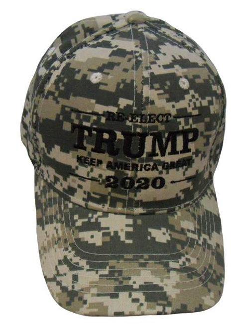 Re-Elect Trump Keep America Great 2020 Cap - Digital Camo