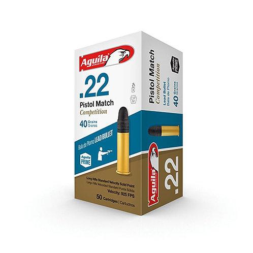 Aguila 1B222516 Match 22 LR 40 gr Lead Solid Point 50/Box