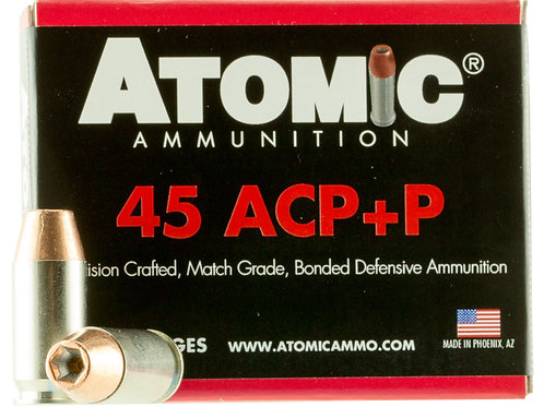 Atomic 00458 Pistol 45 ACP +P 185 gr Bonded Match Hollow Point 20/Box