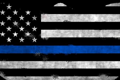 American Flag Blue Line Mask