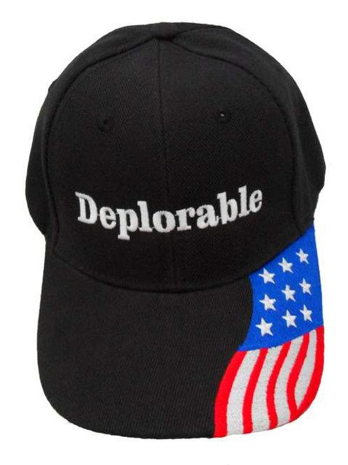 Deplorable w/ Flag Bill Cap