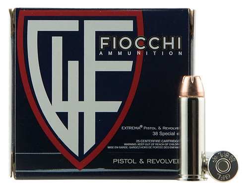 Fiocchi 38XTPP25 Extrema 38 Special +P 125 gr Jacketed Hollow Point (JHP) 25/Box
