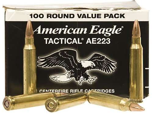 Federal AE223BL American Eagle 223 Rem 55 gr Full Metal Jacket Boat Tail 100/Box