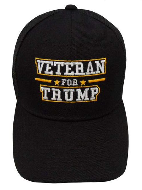 Veteran for Trump Mesh Cap - Black