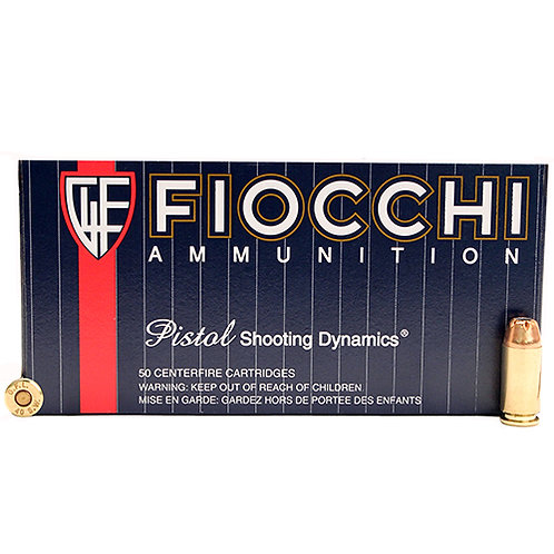 Fiocchi 40SWC Shooting Dynamics 40 S&W 165 gr Jacketed Hollow Point (JHP) 50/Box