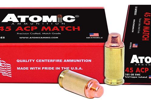 Atomic 448 Match 45 ACP 185 gr Semi Wadcutter (SWC) 50/Box