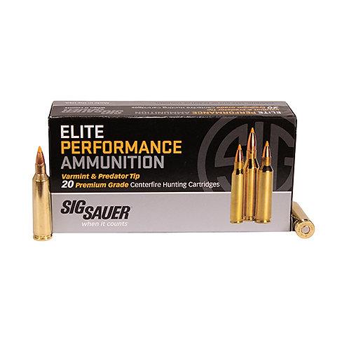 Sig Sauer E225V120 Elite Hunting Varmint & Predator 22-250 Rem 40 gr FMJ 20/Box