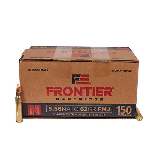 Frontier Cartridge FR2615 Rifle 5.56 NATO 62 gr Full Metal Jacket (FMJ) 150/Box