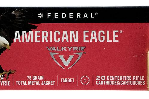 Federal AE224VLK1 American Eagle 224 Valkyrie 75 gr Total Metal Jacket 20/Box