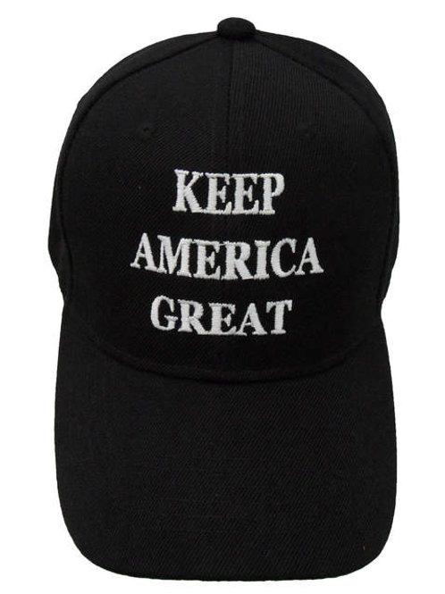 Keep America Great Cap - Black