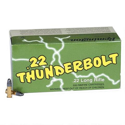 Remington Ammunition TB22A Thunderbolt 22 LR 40 gr Round Nose (RN) 50/Box
