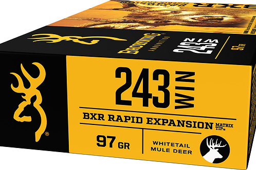 Browning Ammo BXR 243 Win 97 gr Matrix Tip 20/Box