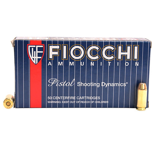 Fiocchi Shooting Dynamics 40 S&W 170 gr Full Metal Jacket Truncated-Cone 50/Box
