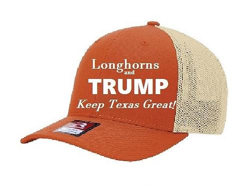 Longhorns and Trump Mesh Cap
