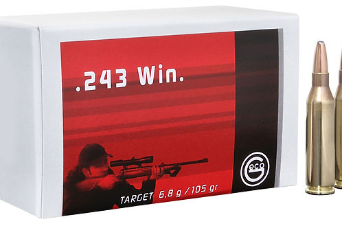 GECO 244440020 Geco Target 243 Win 105 gr Full Metal Jacket (FMJ) 50/Box