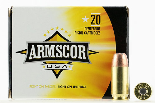 Armscor AC45A10N Pistol 45 ACP 230 gr Jacketed Hollow Point (JHP) 20/Box