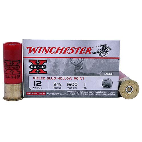 "Winchester Ammo Super-X Rifled Slug Hollow Point 12 Gauge 2.75"" 1 oz 5/Box"