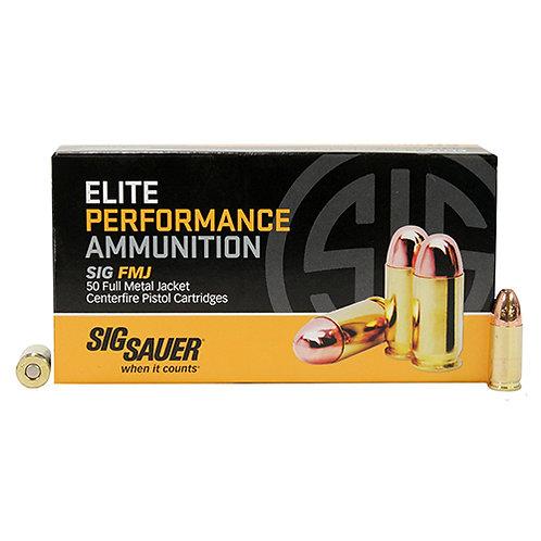 Sig Sauer E9MMB350 Elite Ball 9mm Luger 147 gr Full Metal Jacket (FMJ) 50/Box