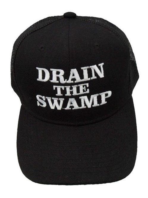 Drain the Swamp Mesh Cap - Black