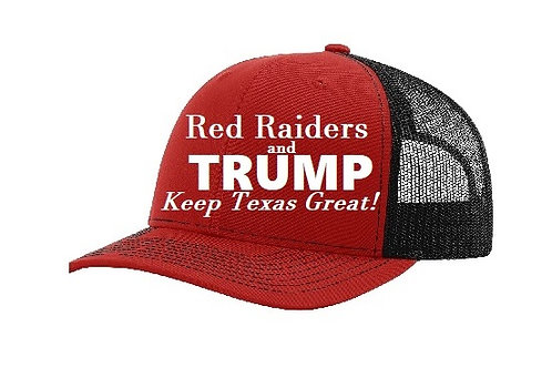 Red Raiders and Trump Adjustable Mesh Cap