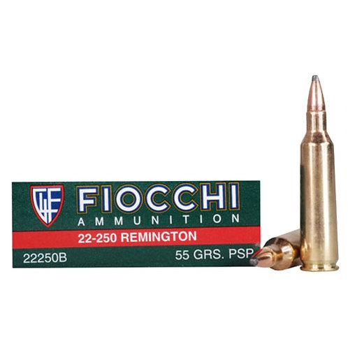 Fiocchi 22250B Shooting Dynamics 22-250 Rem 55 gr Pointed Soft Point 20/Box