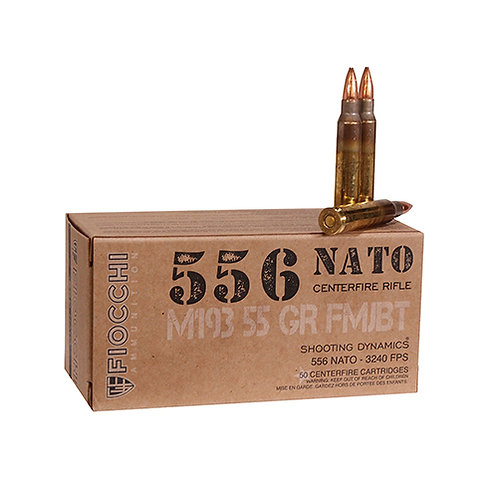 Fiocchi Shooting Dynamics 5.56 NATO 55 gr Full Metal Jacket Boat Tail 50/Box