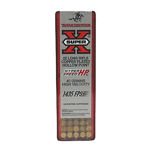 Winchester Ammo XHV22LR Super-X 22 LR 40 gr Hollow Point (HP) 100/Box