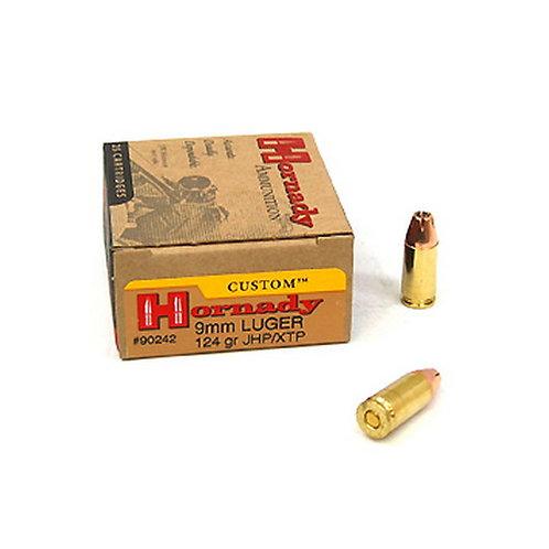 Hornady 90242 Custom 9mm Luger 124 gr XTP Jacket Hollow Point 25/Box