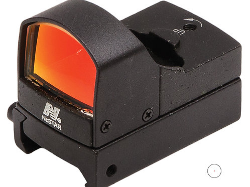 NCStar Micro 1x 23.5x16.8mm Obj 2 MOA Illuminated Red Dot Black Anodized Lithium