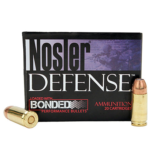 Nosler 38432 Defense 9mm Luger +P 124 gr Hollow Point (HP) 20/Box
