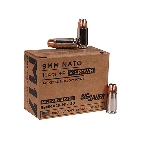 Sig Sauer Elite V-Crown 9mm Luger +P 124 gr Jacketed Hollow Point 20/Box