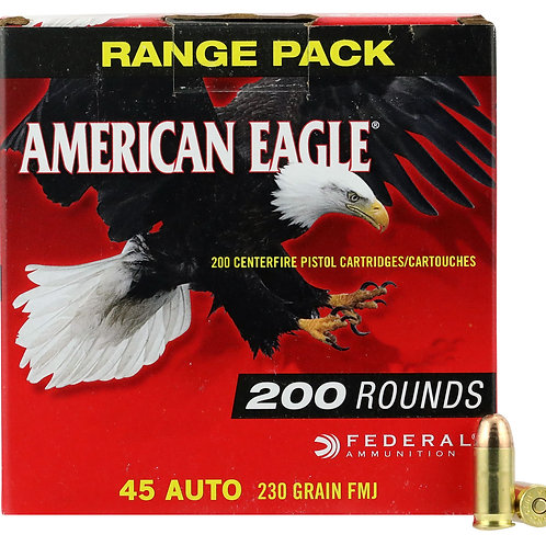 Federal AE45A200 American Eagle 45 ACP 230 gr Full Metal Jacket (FMJ) 200/Box
