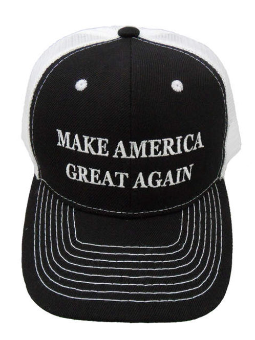 Make America Great Again Mesh Cap - Black/White