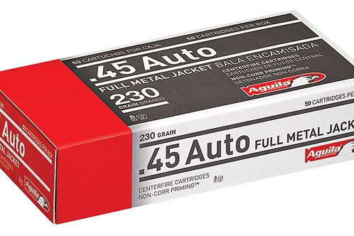 Aguila 1E452110 Pistol 45 ACP 230 gr Full Metal Jacket (FMJ) 50/Box