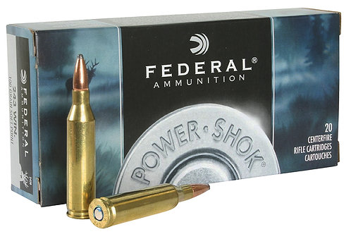 Federal 243B Power-Shok 243 Win 100 gr Jacketed Soft Point (JSP) 20/Box