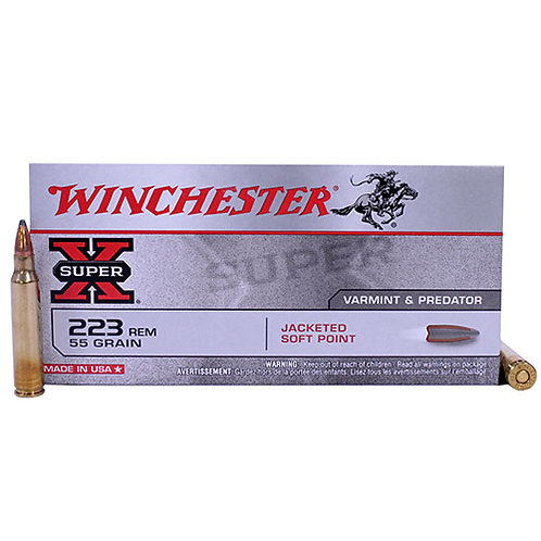 Winchester Ammo X223R Super-X 223 Rem 55 gr Pointed Soft Point (PSP) 20/Box