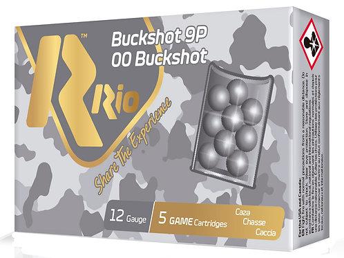 "RIO AMMUNITION RB129 Royal Buck 12 Gauge 2.75"" 9 Pellets 00 Buck Shot 5/Box"