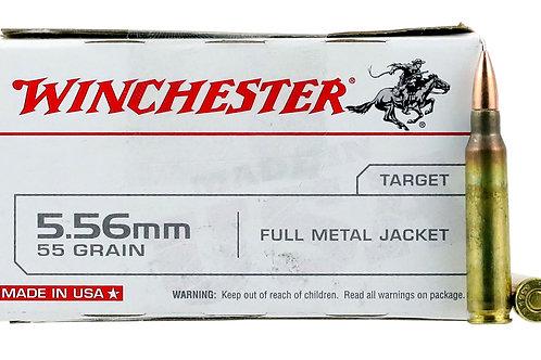 Winchester Ammo Q3131L USA 5.56 NATO 55 gr Full Metal Jacket (FMJ) 20/Box