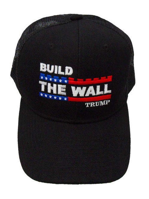 Build The Wall Trump Mesh Cap - Black
